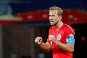 Soccer Football - World Cup - Group G - Tunisia vs England - Volgograd Arena, Volgograd, Russia - June 18, 2018 England's Harry Kane celebrates after the match. REUTERS/Jorge Silva