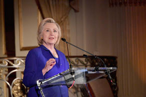 NEW YORK, NY - JUNE 18:  Former First Lady of the United States Hillary Clinton speaks onstage during the 8th Annual Elly Awards hosted by the Women's Forum of New York at The Plaza Hotel on June 18, 2018 in New York City.  (Photo by Mike Coppola/Getty Images for The Women's Forum of New York)