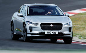 a police car parked on the side of a road: We Drive the I-Pace, Jaguar's First EV!