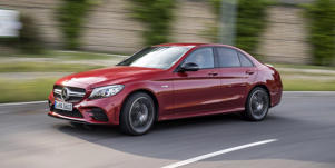 2019 Mercedes-Benz C300 and Mercedes-AMG C43 Driven: More Tech, More Power: We get behind the wheel of the updated Mercedes-Benz C300 and Mercedes-AMG C43. Read our review and see images at Car and Driver.
