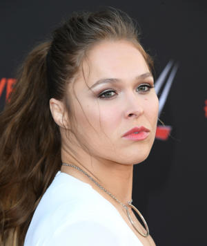 NORTH HOLLYWOOD, CA - JUNE 06:  Ronda Rousey arrives at the WWE's First-Ever Emmy 'For Your Consideration' Event at Saban Media Center on June 6, 2018 in North Hollywood, California.  (Photo by Steve Granitz/WireImage)