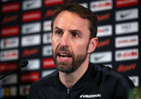 England manager Gareth Southgate has dislocated his right shoulder while running, the Football Association has announced.