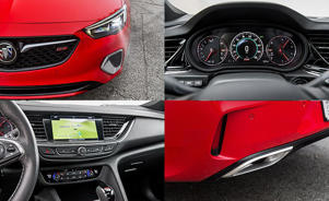 a close up of a red car: 2018 Buick Regal GS Tested: Grand Sport or Bland Sport?