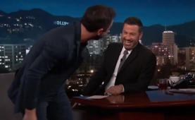 Watch Nick Kroll accidentally split his pants on 'Jimmy Kimmel Live'