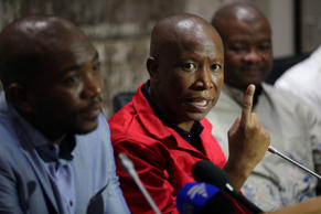 Julius Malema, leader of the Economic Freedom Fighters party.