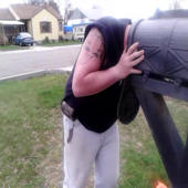 How do you get your head stuck in a mailbox?
