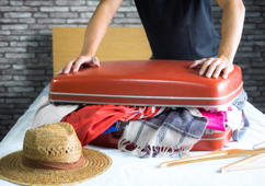 Fit all of your favourite outfits in a suitcase with this easy tutorial