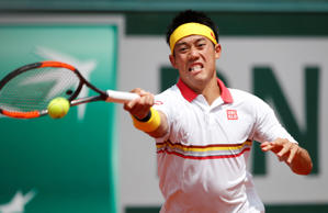 Tennis - French Open - Roland Garros, Paris, France - June 3, 2018   Japan's Kei Nishikori in action during his fourth round match against Austria's Dominic Thiem   REUTERS/Pascal Rossignol