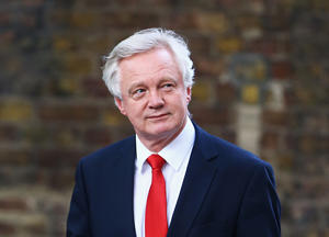 David Davis arrives at 10 Downing Street, central London