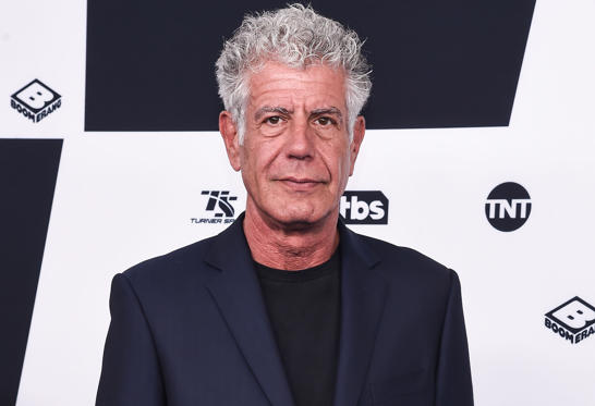 Slide 1 of 12: NEW YORK, NY - MAY 17:  Anthony Bourdain attends the 2017 Turner Upfront at Madison Square Garden on May 17, 2017 in New York City.  (Photo by Daniel Zuchnik/WireImage)
