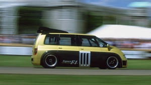 Renault Espace F1: No, the Espace F1 wasn't actually a production van - but it needs to be featured. It used the V10 drivetrain from the 1993 Williams FW15C F1, grafted into the body of a normal Renault Espace van. It could get from 0-60 in under three seconds