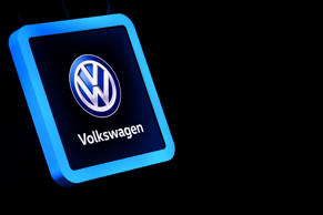 The Volkswagen logo is displayed at the German car maker's booth during a press day ahead of the Geneva International Motor Show on March 6, 2018 in Geneva.  The show opens to the public on March 8 and runs through March 18.  / AFP PHOTO / HAROLD CUNNINGHAM        (Photo credit should read HAROLD CUNNINGHAM/AFP/Getty Images)