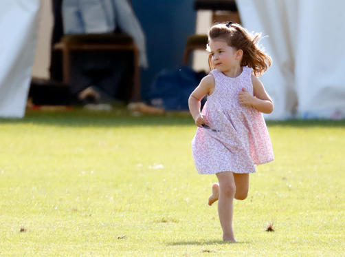 Slide 1 of 40: GLOUCESTER, UNITED KINGDOM - JUNE 10: (EMBARGOED FOR PUBLICATION IN UK NEWSPAPERS UNTIL 24 HOURS AFTER CREATE DATE AND TIME) Princess Charlotte of Cambridge attends the Maserati Royal Charity Polo Trophy at the Beaufort Polo Club on June 10, 2018 in Gloucester, England. (Photo by Max Mumby/Indigo/Getty Images)