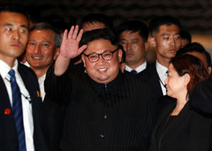 North Korea's leader Kim Jong Un visits The Marina Bay Sands hotel in Singapore, June 11, 2018.