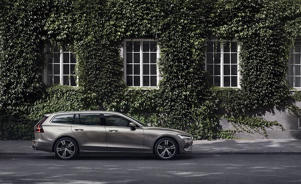 a car parked on the side of a building: 2019 Volvo V60 Driven: Estate Planning