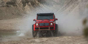 Mercedes-Benz G550 4x4² Tested: A Swarovski-Crystal-Encrusted Brodozer: The G550 4x4² is the most outrageous version of the outgoing G-wagen. Read our test results and see photos at Car and Driver.