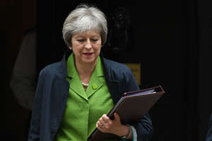 Prime Minister Theresa May leaves Downing Street, London, after a Cabinet meeting.