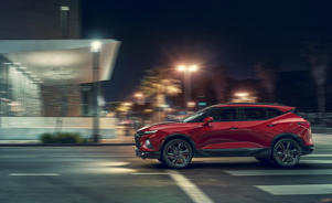 "a car parked on the side of a road: 2019 Chevrolet ""Blazer"" Debuts, Isn't That Blazer"