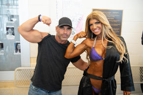 Joe Gorga and Teresa Giudice pose at the NPC South Jersey Bodybuilding Championships on June 9, 2018 in Medford, New Jersey.