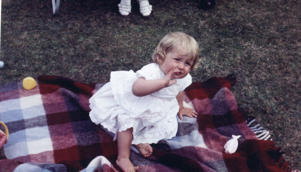 Family album picture of Lady Diana Spencer at Park House, Sandringham, Norflk on her first birthday. - July 1, 1962