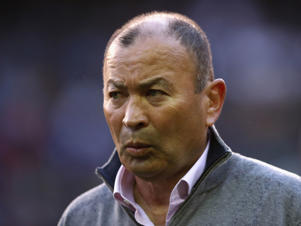 Eddie Jones, the England head coach looks on during the third test match between South Africa and England at Newlands Stadium on June 23, 2018 in Cape Town, South Africa.