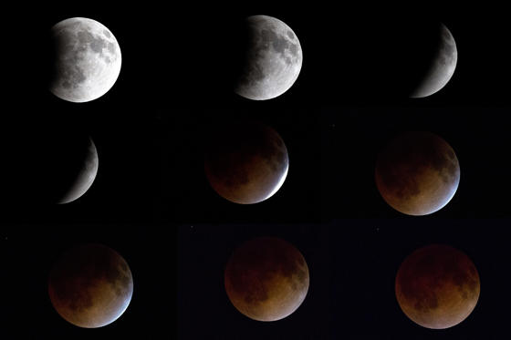 Celestial event turns moon orange