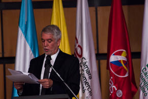 The mayor of Bogota, Enrique Peñalosa was present at the opening of the 2018 book fair, where the guest of honor is Argentin in Bogotá, Colombia on April 17, 2018. (Photo by Daniel Garzon Herazo/NurPhoto via Getty Images)