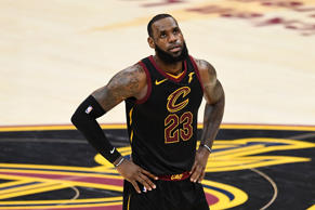 CLEVELAND, OH - JUNE 08:  LeBron James #23 of the Cleveland Cavaliers looks on in the second half against the Golden State Warriors during Game Four of the 2018 NBA Finals at Quicken Loans Arena on June 8, 2018 in Cleveland, Ohio. NOTE TO USER: User expressly acknowledges and agrees that, by downloading and or using this photograph, User is consenting to the terms and conditions of the Getty Images License Agreement.  (Photo by Jason Miller/Getty Images)