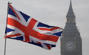 A Union flag flies in front of the Big Ben clock tower in London, Britain, January 23, 2017. REUTERS/Toby Melville