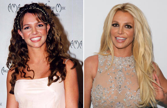 สไลด์ 1 จาก 56: Britney Spears at the AMA '98 at in Los Angeles, California. (Photo by Jeff Kravitz/FilmMagic); HOLLYWOOD, CA - FEBRUARY 24: Britney Spears attends the 4th Hollywood Beauty Awards on February 25, 2018 in Hollywood, California.(Photo by JB Lacroix/WireImage)