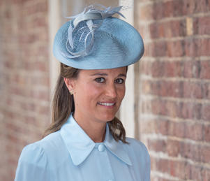 Pippa Middleton arriving for the christening of Prince Louis, the youngest son of the Duke and Duchess of Cambridge at the Chapel Royal, St James's Palace, London.