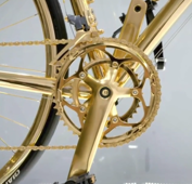 How 24-karat gold bike was made