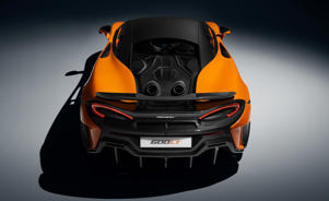 a black helmet: McLaren 600LT: More Details on the More Extreme Mini-Mac