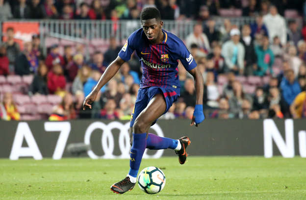 a8a72b43d Slide 3 of 27  Ousmane Dembele scores during the match between FC Barcelona  and Villarreal