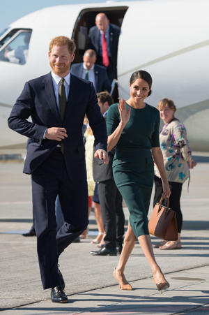 The Duke and Duchess of Sussex arrive at Dublin City Airport for the start of their visit to Dublin, Ireland.