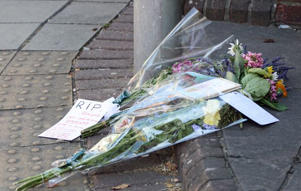 Floral tributes left to Dawn Sturgess
