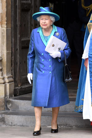 Queen Elizabeth II during the RAF Centenary at Westminster Abbey, London.
