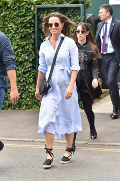 Slide 1 of 37: LONDON, ENGLAND - JULY 11:  Pippa Middleton seen on day nine of The Championships at Wimbledon, London.  on July 11, 2018 in London, England.  (Photo by HGL/GC Images)