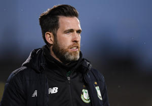 Shamrock Rovers manager Stephen Bradley during the SSE Airtricity League Premier Division match between Shamrock Rovers and Cork City at Tallaght Stadium in Dublin.