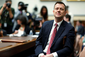 "FBI Deputy Assistant Director Peter Strzok waits to testify before the U.S. House Committees on the Judiciary and Oversight & Government Reform joint hearing on ""Oversight of FBI and DOJ Actions Surrounding the 2016 Election"" in Washington, U.S., July 12, 2018."