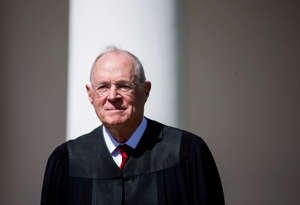 WASHINGTON, DC - APRIL 10:  U.S. Supreme Court Associate Justice Anthony Kennedy is seen during a ceremony in the Rose Garden at the White House April 10, 2017 in Washington, DC. Earlier in the day Gorsuch, 49, was sworn in as the 113th Associate Justice in a private ceremony at the Supreme Court. (Photo by Eric Thayer/Getty Images)