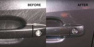 Is the area around your door's handle covered in ugly scratches? Here's how to make it look like new.: How to Remove Car Door Handle Scratches