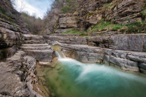 Vikos Gorge River in Northern Greece taken in April 2018