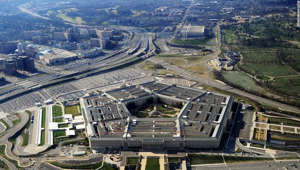 a view of a city: This picture taken 26 December 2011 shows the Pentagon building in Washington, DC. The Pentagon, which is the headquarters of the United States Department of Defense (DOD), is the world's largest office building by floor area, with about 6,500,000 sq ft (600,000 m2), of which 3,700,000 sq ft (340,000 m2) are used as offices. Approximately 23,000 military and civilian employees and about 3,000 non-defense support personnel work in the Pentagon. (Photo credit should read STAFF/AFP via Getty Images)
