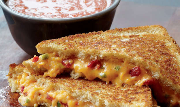 Slide 2 of 26: Science has yet to find anything melted cheese can't fix. Pair this grilled cheese with sriracha ketchup and convince yourself you're eating vegetables. (Or, you know, you could have it with tomato soup.) Want more sammy ideas? Check out these 25 Easy Sandwich Recipes.Get our recipe for Grilled Cheese and Tomato Soup.