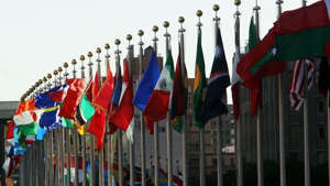a row of colorful umbrellas hanging from it: US policy must adjust to transnational issues