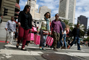 <p>The U.S. economy is motoring ahead of the rest of the world and generating the best job growth in years, but the ride is still not free of bumps.</p>