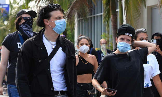 Slide 1 of 100: Halsey and her boyfriend Yungblud were seen protesting the killing of George Floyd in Los Angeles.