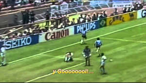 "The legendary live commentary by Victor Hugo Morales of the Maradona's Goal of the Century, which exemplifies its characteristic style. From the broadcast for an argentinian radio, the uruguayan commentator described with so much emotion the second goal by Diego Maradona, that for many Argentines this commentary is intimately linked to that goal, that game, that day and the Mexico 86 world cup. Víctor Hugo Morales is an uruguayan journalist, sports correspondent, commentator, conductor and writer. He's an example and a permanent reference in sport journalism, because he owns all of the requirements to achieve excellence: an incomparable voice, good presence, excellent diction, and an incomparable management of the Spanish language. Besides its endless talent, he made memorable phrases which remained in the collective slang: ""tatatata"", ""no quieran saber, no le pregunten a nadie..."", ""barrilete cósmico"", ""balas que pican cerca... la manzana está rodeada"" and many others."