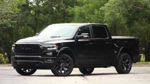 a car parked on the side of a road: 2020 Ram 1500 Limited EcoDiesel: Review